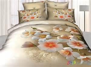 elegant floral print bedding set queen size 3d quilt comforter duvet cover bedsheet pillowcase