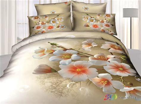elegant floral print bedding set queen size 3d quilt