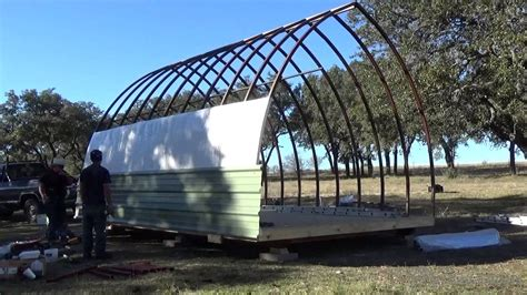 small greenhouse kits build process of a 14 39 x 20 39 arched cabin on a skid