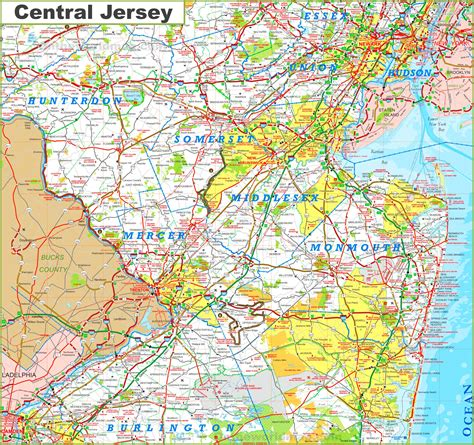 Central Jersey by Central New Jersey Map