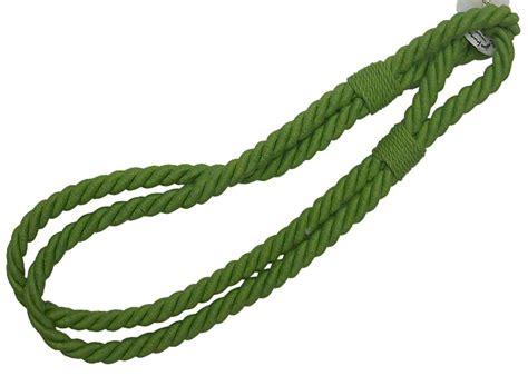 embrasse rideau en corde fine tordad 233 e coloris unis
