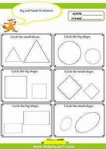 Image Result For Make A Circle Big And Small Worksheet