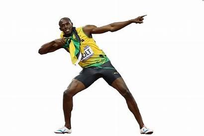 Running Bolt Usain Background Athlete Clipart Transparent