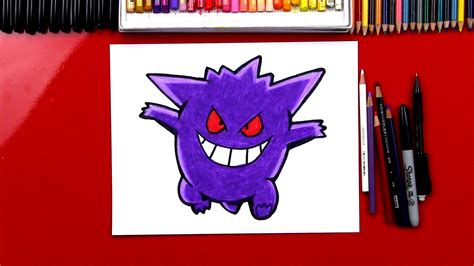 draw gengar pokemon art  kids hub