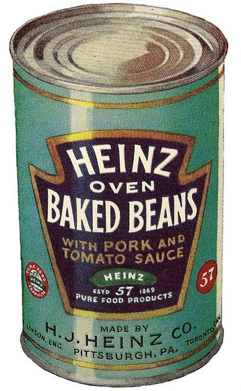 Vintage Heinz beans tin graphic | Heinz beans, Heinz baked ...