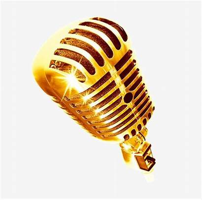 Microphone Mic Clipart Golden Icon Transparent Jazz