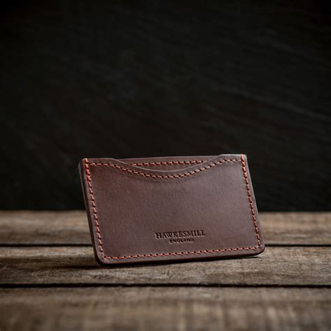 Leather Card Holder Handmade leather credit card holder handmade in hawkesmill