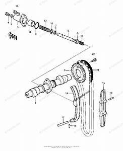 Kawasaki Motorcycle 1980 Oem Parts Diagram For Camshaft