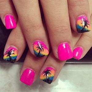Beach inspired nail designs to try this summer