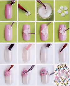 Designs flower nail art step by for you the