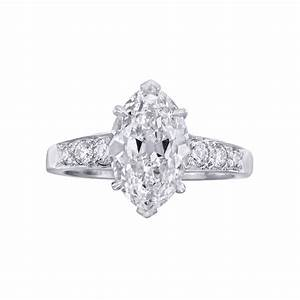 betteridge 265 carat marquise shaped diamond engagement With diamond shaped wedding ring