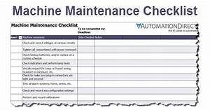 machine maintenance checklist free template With machine maintenance checklist template