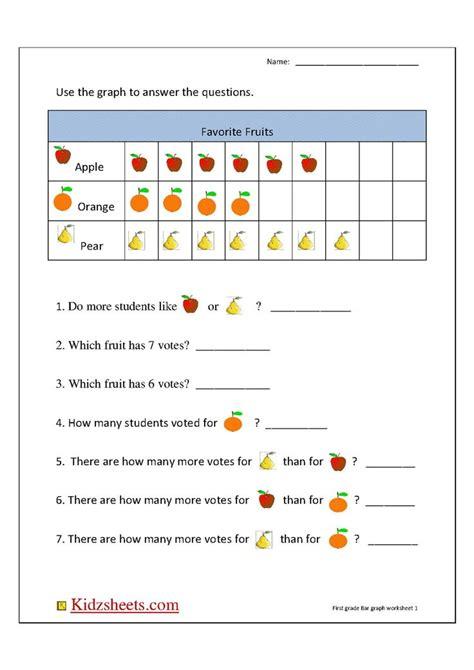 bar graph worksheets st grade worksheet  home