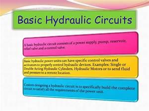 Simple Hydraulic Diagram Basic Hydraulic Circuit