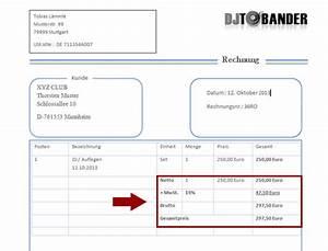 Rechnung Schreiben Ohne Gewerbe Muster : dj rechnungsvorlage template download im ms word format ~ Themetempest.com Abrechnung