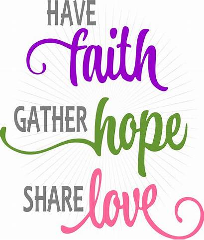Faith Hope Svg Clipart