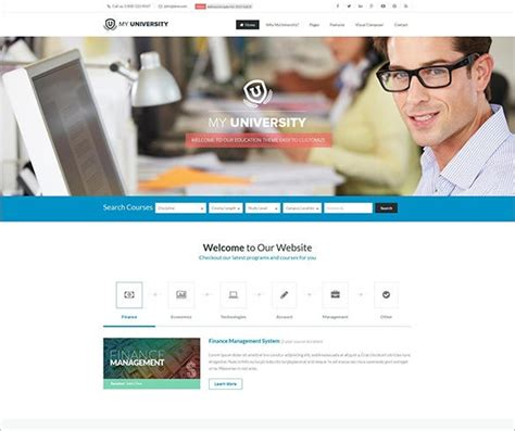 education bootstrap themes templates