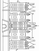 Mansion Coloring Printable Houses Mansions Buildings Activities Tree sketch template