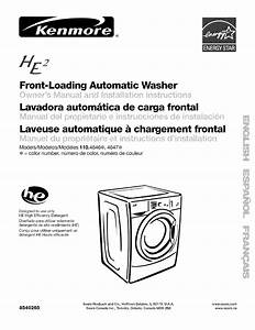 Kenmore Washer 110 4646 User Guide