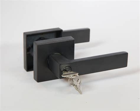 square plate sets lisbone square door handle lever lock set modern