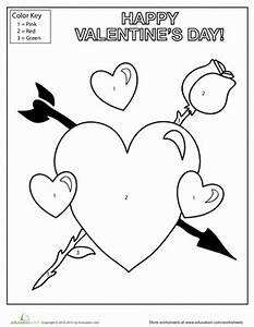 Valentine's Day Coloring | Worksheet | Education.com