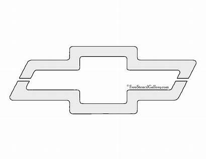 Stencil Chevrolet Chevy Printable Template Logos Sketch