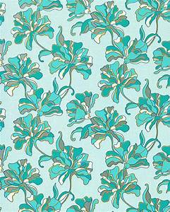 Turquoise Floral Wallpaper - A Wallpaper.Com