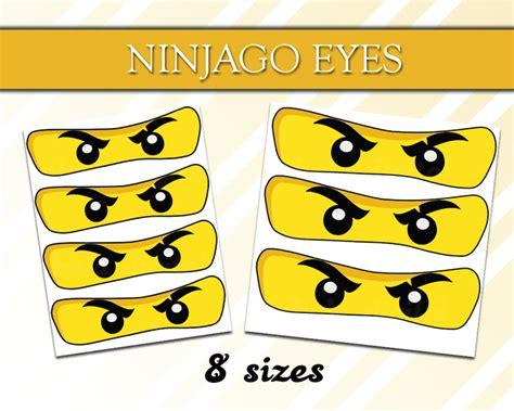 printable ninjago eyes  sizes ninjago  littlelight