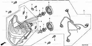 Honda Scooter 2012 Oem Parts Diagram For Headlight