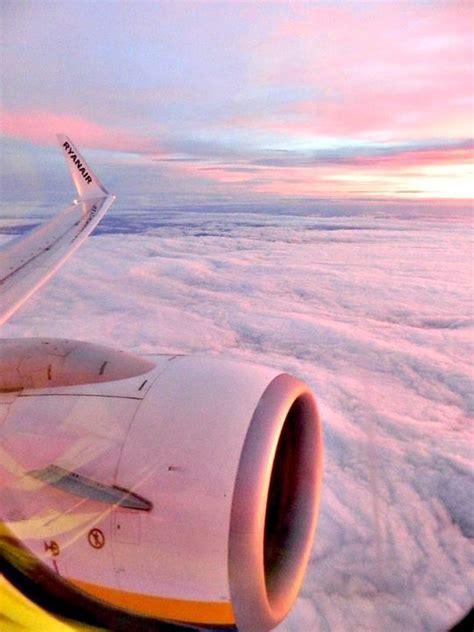 last year ryanair sky plane pink amazing clouds