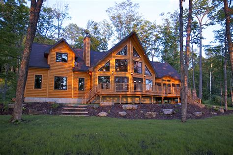 Log Home Plans By Timber Block Features Fabulous Floor