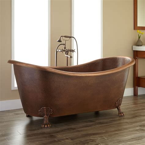 bathrooms with clawfoot tubs pictures claw foot tubs bathtubs isabella hammered copper double slipper clawfoot tub