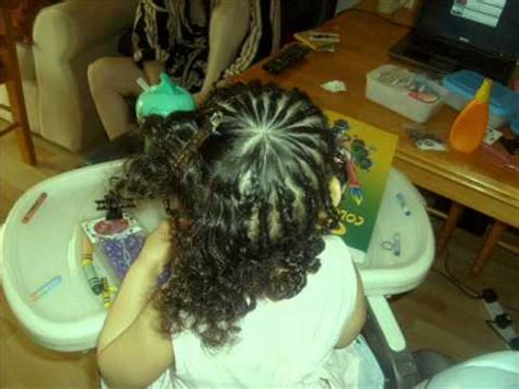 braiding  beading mixed race curly hair tutorial kids