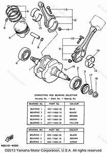 Yamaha Motorcycle 1994 Oem Parts Diagram For Crankshaft