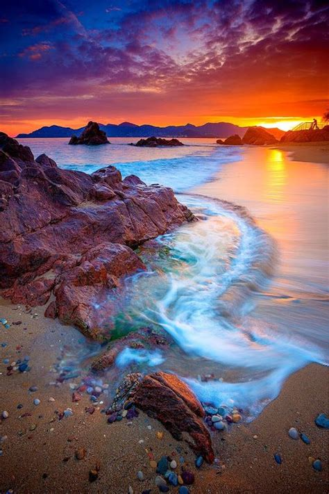 meer sonnenuntergang strand sommer fotografie natur