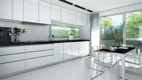 cocina blanca  negra  mesa serie hoelst muebles de cocina en madrid en  cocinas