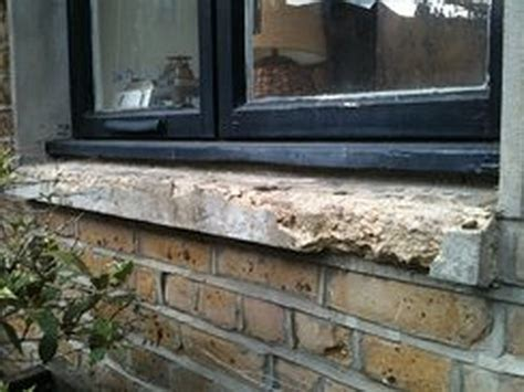 Exterior Window Sill Repair by Replace 2 Crumbled Concrete Exterior Window Sills