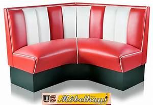 Us Diner Möbel : hw 120 120 r american dinerbank eckbank diner b nke m bel 50 s retro usa style ebay ~ Markanthonyermac.com Haus und Dekorationen