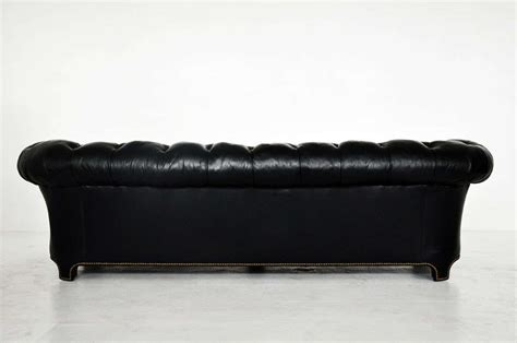 black chesterfield sofa black leather chesterfield sofa at 1stdibs