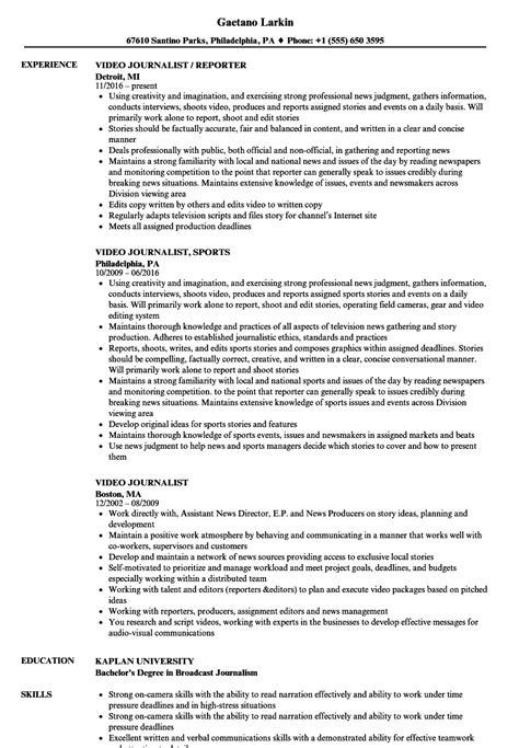 Journalist Resume by Journalist Resume Sles Velvet