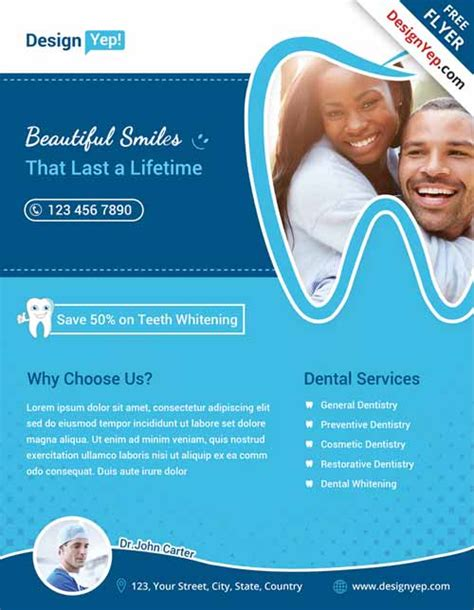 Free Dental Brochure Templates by Free Dental Flyer Template Psd Flyershitter
