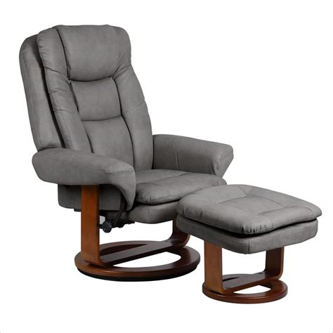 leather swivel recliner with ottoman mac motion chairs nubuck bonded leather swivel recliner