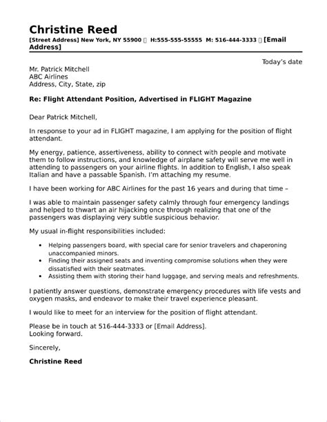 Flight Attendant Cover Letters by Child Care Cook Cover Letter Sle Aderichie Co