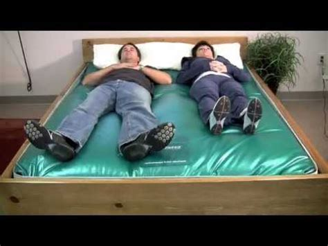 how to make a water bed g600 waterbed mattress wave test youtube