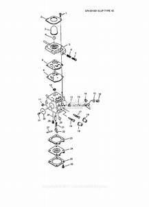 Echo Srm-3800 Type 1e Parts Diagram For Carburetor S  N  Type 1e -- 001001
