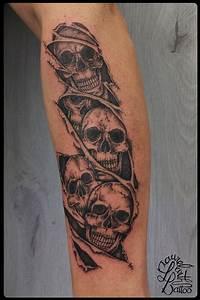 Tatouage Loup Geometrique : laurelarth tattoo tatouage r gion lyon crane tete de mort ~ Melissatoandfro.com Idées de Décoration