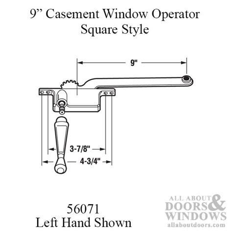 arm steel casement operator square body white choose handing