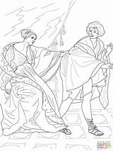Coloring Joseph Wife Pages Potiphar Guido Reni Printable Drawing Potiphars Dot sketch template
