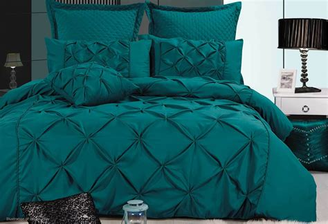 luxton fantine teal green quilt cover set in king queen