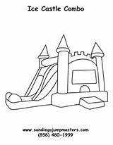 Castle Coloring Bounce Sheets Template Jumper Sketch sketch template